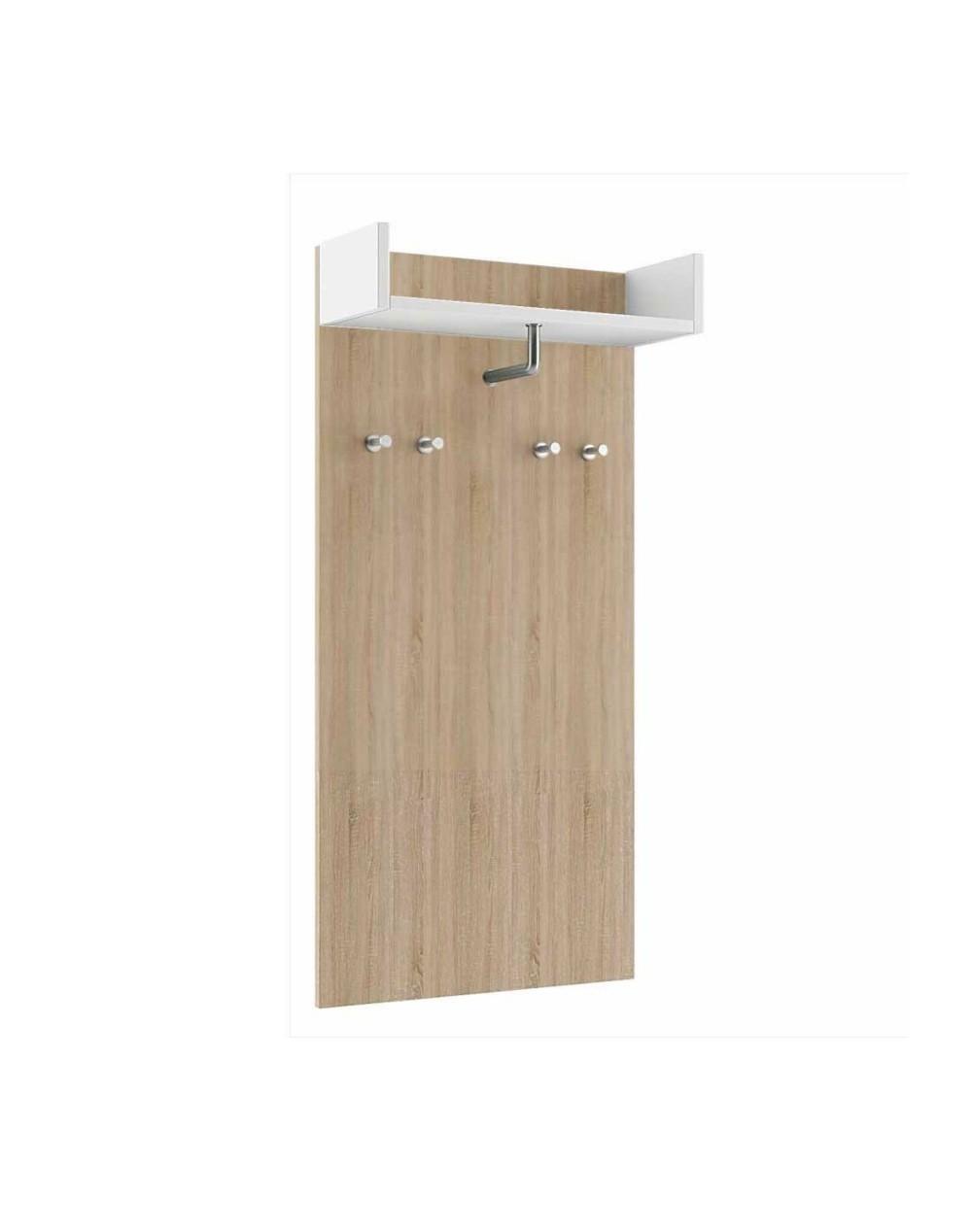 Wieszak ścienny panelowy średni z półką - garderoba KATE