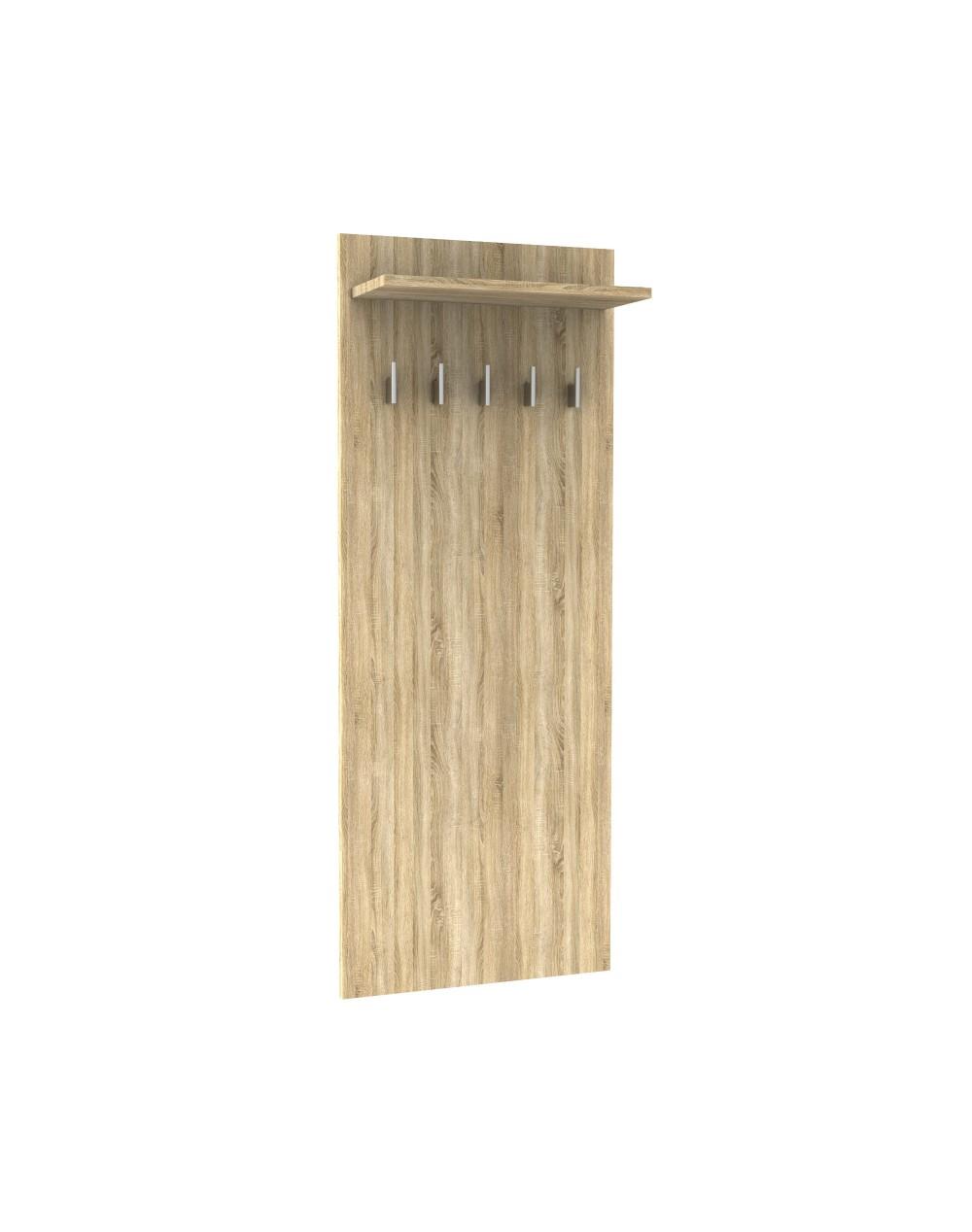 Wieszak panelowy ścienny długi z półką - garderoba STRIP