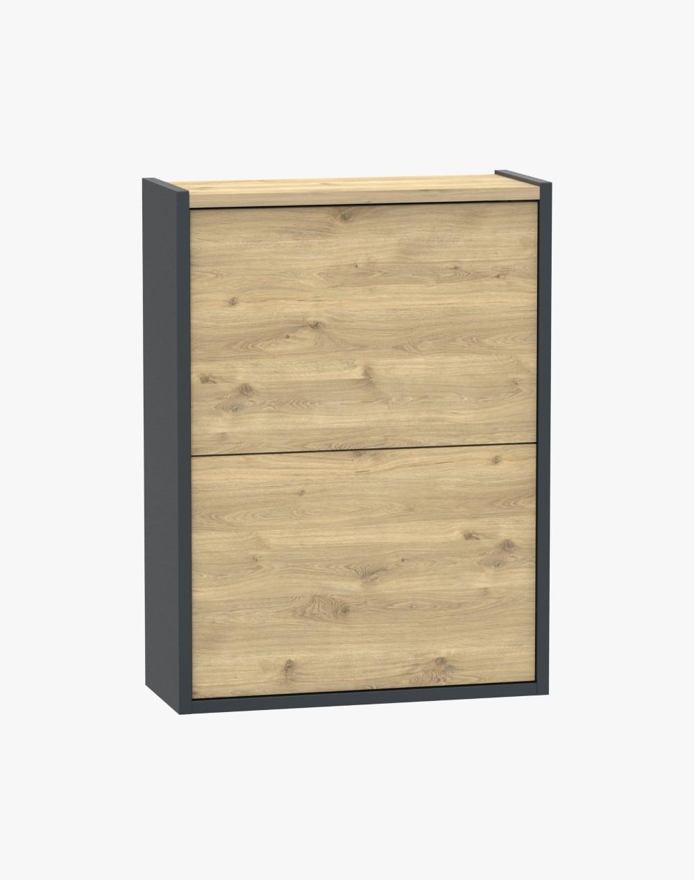 Wąska szafka na buty - 2 szuflady WOODY