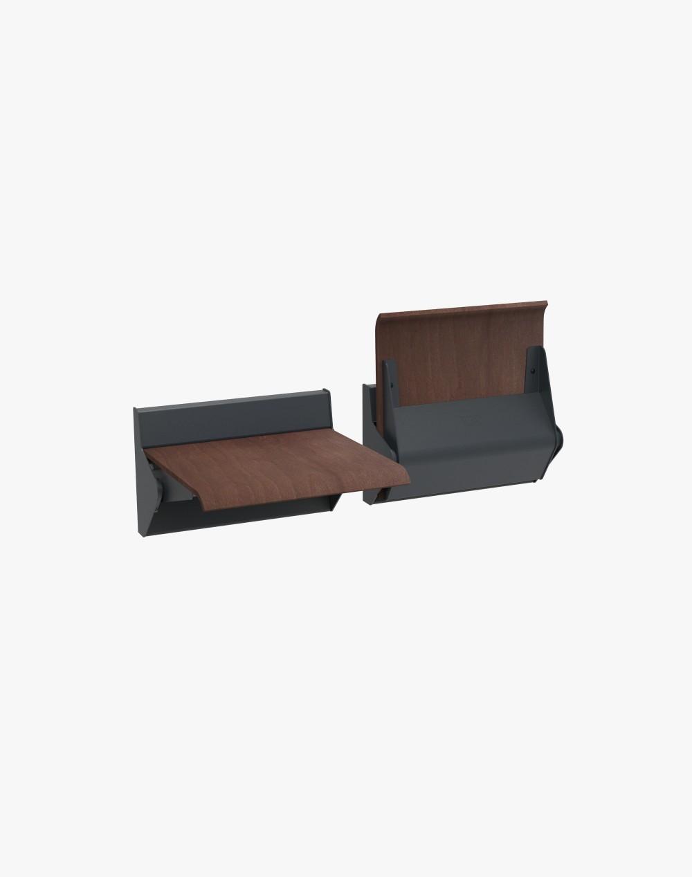 Niskie siedzisko naścienne - straponten z mechanizmem samopowrotu